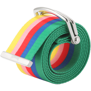 Men Others Printed - Water-resistant belt Rainbow - Vilebrequin x JCC+ - Limited Edition, White front