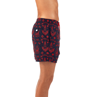 Men Embroidered Embroidered - Tattoo Embroidered Swim shorts, Navy supp1