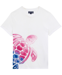 Men Others Printed - Men Cotton T-Shirt Tortue Aquarelle, White front