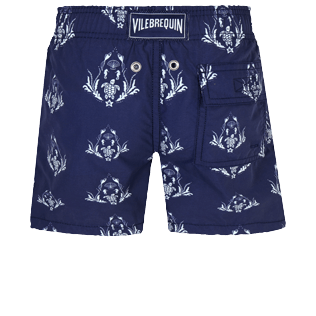 Boys Others Printed - Boys Swim Trunks Pranayama, Sapphire back