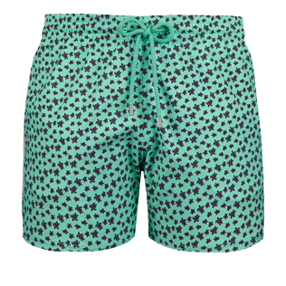 Men Stretch classic Printed - Men Stretch swimtrunks Micro Ronde Des Tortues, Mint front