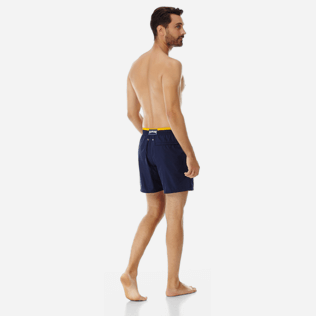 Men Ultra-light classique Solid - Men Ultra-Light and packable Swimwear Solid Bicolor, Navy backworn