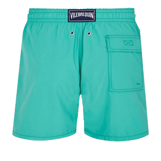 Men Classic Embroidered - Men Swim Trunks Placed Embroidery Le Vilebrequin, Veronese green back