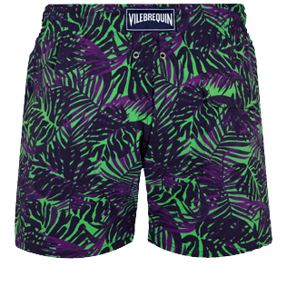 Men Stretch classic Printed - Men Stretch Swim Trunks Madrague, Grass green back