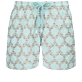 Men 017 Embroidered - Men Swim Trunks Embroidered - Limited Edition, Acqua front