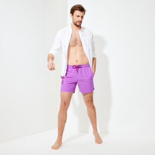 Men Classic Solid - Men Swim Trunks Solid, Orchid supp2