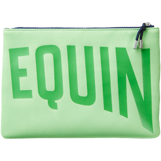 Others Solid - Zipped Beach Pouch Solid, Neon green back