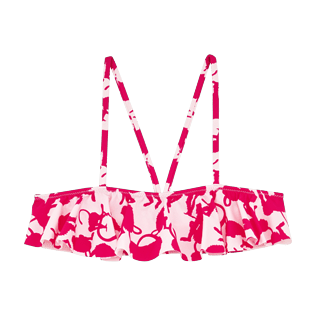 Niñas Autros Estampado - Top de bikini con estampado Happy Monkeys para niña, Peony front
