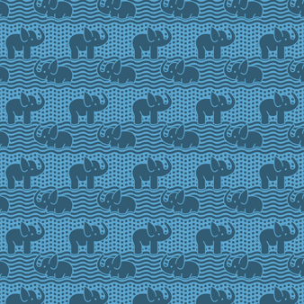 男士 Elephants Bathroom 遇水变色泳裤, Jaipuy pattern