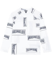Others 印制 - Kids Rashguard Vilebrequin labels, White front
