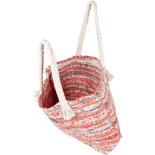 Others Printed - Large Beach Bag Eco-friendly, Red backworn
