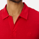 Men Others Solid - Men Linen Jersey Polo Shirt Solid, Red polish supp1