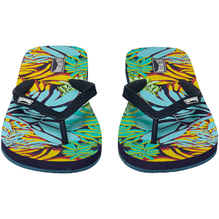 Mujer Autros Estampado - Women Flip Flops Jungle, Midnight blue frontworn