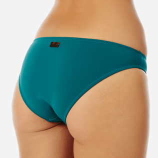 Women Classic brief Solid - Women midi brief bikini Bottom Solid, Pine wood supp1