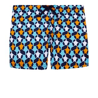 Boys Others Printed - Boys Swim Trunks Boxer Cuts Turtle Stars, Navy front