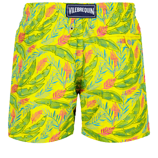 Men Classic Embroidered - Men Swimwear Embroidered Leaves in the wind - Limited Edition, Safran back
