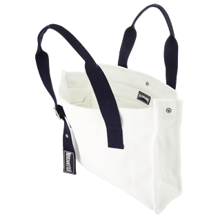 Others Solid - Small Solid Cotton beach bag, White supp2