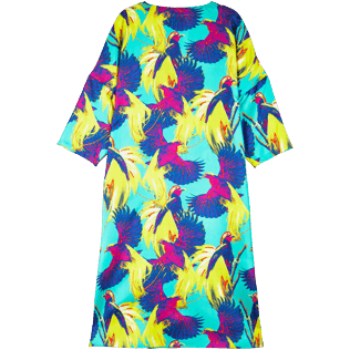 3856de3eb74323 Women Others Printed - Women Long Twill Silk Tunic Dress Birds of Paradise
