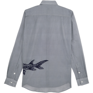 Others Printed - Unisex Cotton voile Shirt Belle ou Gars, White back
