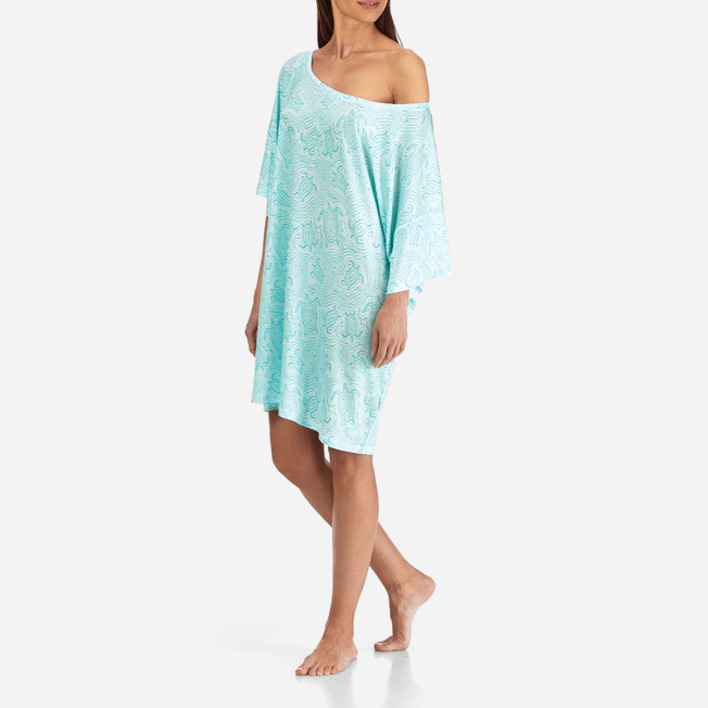 Vilebrequin - Robe T-shirt Oversize en Jersey Tencel Femme Tortues Hypnotiques - 7