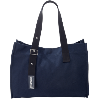 Bags Solid - Large Cotton Beach bag Solid, Navy front
