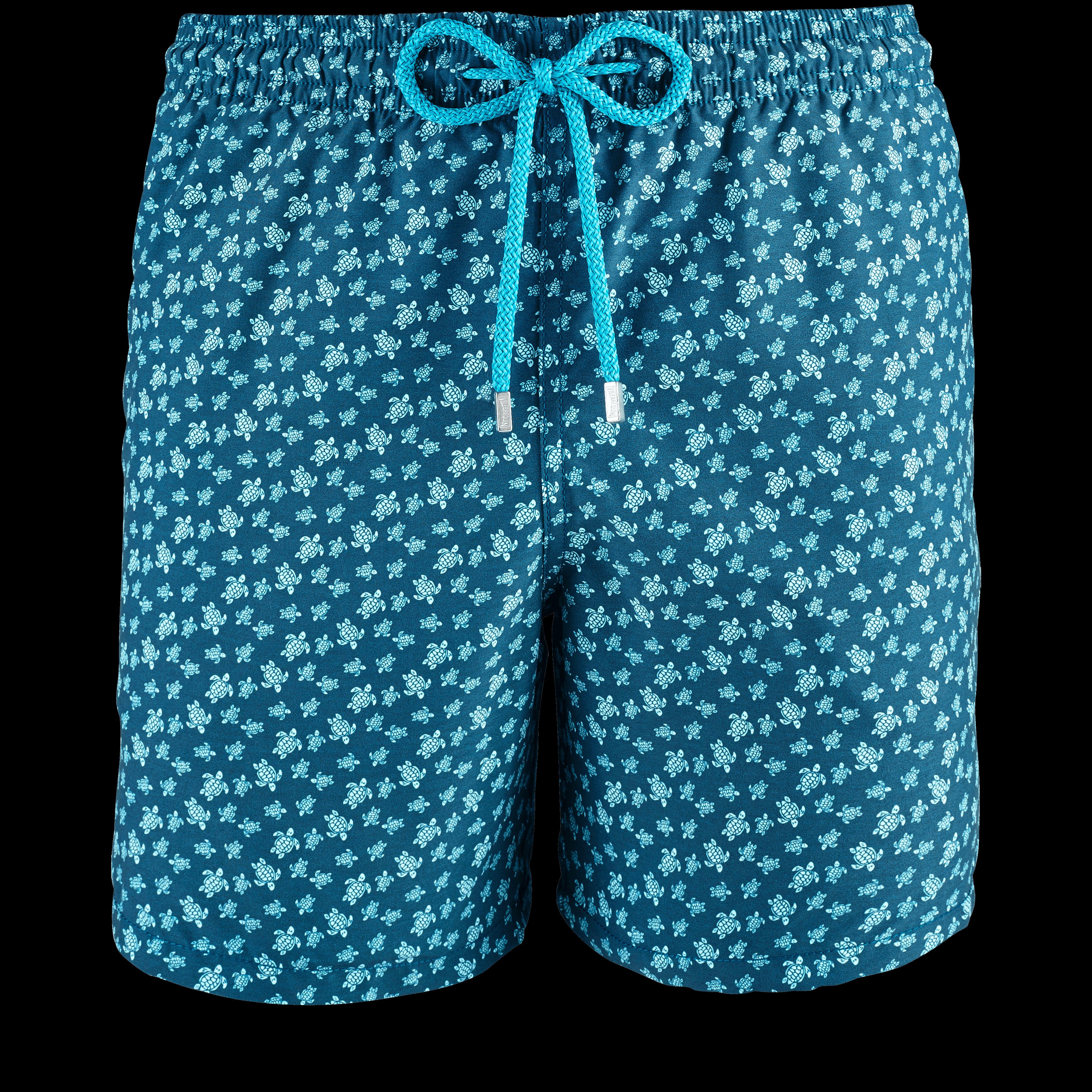 Men Swimwear - Men Swimwear Micro Ronde Des Tortues - Swimming Trunk - Moorea in Blue Multi