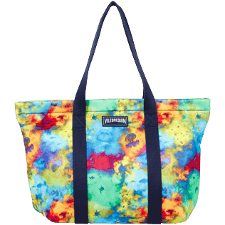 Others Printed - Unisex Neoprene Beach Bag Holi Party, Batik blue front