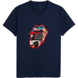 Men Others Embroidered - Men T-shirt Rolling Stones, Unique front