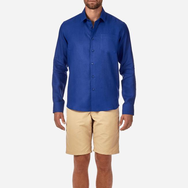 Vilebrequin - Men Linen Shirt Solid - 5