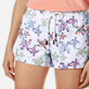 Women Others Embroidered - Women embroidered Swim Short Watercolor Turtles, White supp1