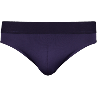 Men Swim brief and Boxer Solid - Men Swim Brief elastic belt solid, Navy front