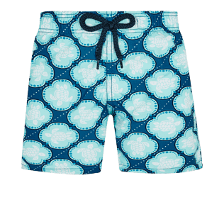 Boys Others Printed - Boys Swim Trunks Wax Turtles, Acqua front