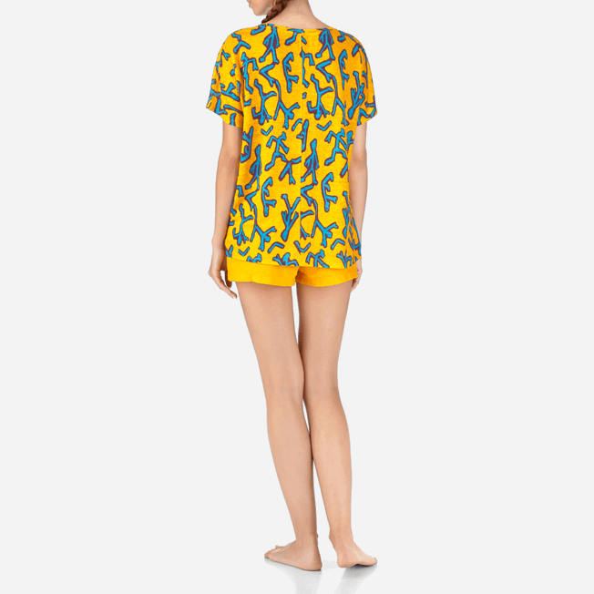 Vilebrequin - Tee-shirt en Lin Danse du Feu - 4