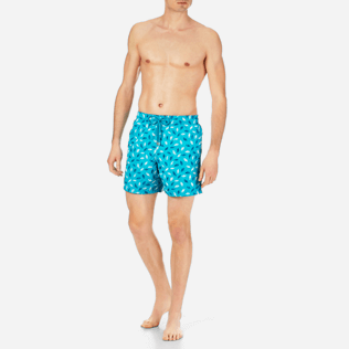Men Embroidered Embroidered - Men Swimtrunks Embroidered Mini Fish - Limited Edition, Curacao frontworn