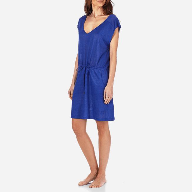 Vilebrequin - Robe courte en Jersey de lin Femme Unie - 3