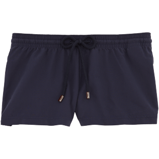 Women Shorties Solid - Solid Straight cut shortie, Navy front