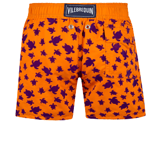 Boys Others Printed - Boys Swimwear Floked Micro ronde des tortues, Safran back