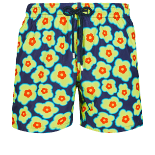Men Ultra-light classique Printed - Men Swim Trunks Ultra-light and packable 1981 Flower Turtles, Sapphire front