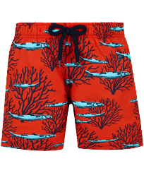 Boys Others Printed - Boys Swim Trunks Coral & Fish, Medicis red front