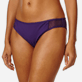 Women Classic brief Solid - Women midi brief bikini Bottom Solid Net, Reddish purple supp1