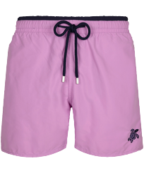 Men Classic Solid - Men Swim Trunks Bicolor Solid, Pink berries front