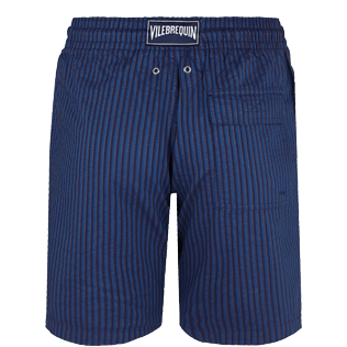 Men Others Graphic - Men Cotton Bermuda Shorts Rayures Corde, Navy back