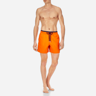 Men Classic Solid - Men Swimtrunks Bicolor, Kumquat frontworn