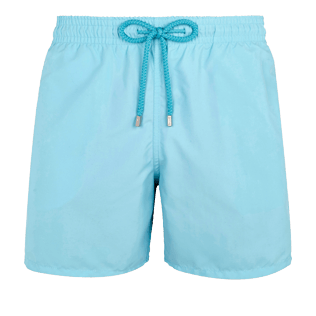 Men Classic Solid - Men swimtrunks Solid, Acqua front