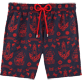 Men Embroidered Embroidered - Tattoo Embroidered Swim shorts, Navy front