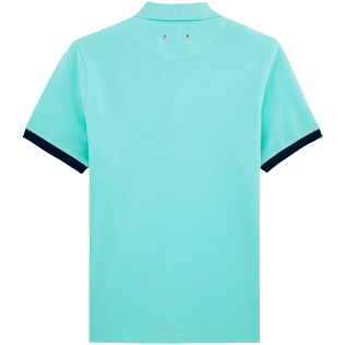 Men Others Solid - Cotton pique polo, Lagoon back
