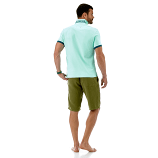 Men Others Solid - Cotton pique polo, Lagoon supp4