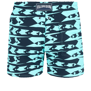Men Stretch classic Printed - Men Swim Trunks Stretch Attrape moi si tu peux - WEB EXCLUSIVE, Lagoon back