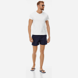 Men Classic Solid - Men Swimwear Solid, Navy supp2