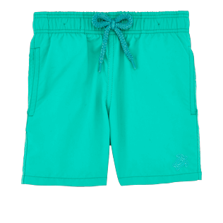 Boys Classic / Moorea Printed - Boys Water-Reactive Swimtrunks Hypnotic Turtles, Veronese green front